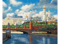 """Раскраска по номерам """"Московский Кремль"""""""