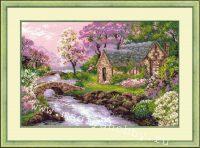 """вышивка крестом набор """"Весенний пейзаж"""""""