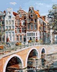 Раскраска по номерам «Императорский канал в Амстердаме»