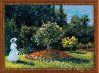 """вышивка крестом набор """"Дама в саду"""""""