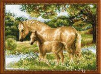 """вышивка крестом набор """"Лошадь с жеребёнком"""""""