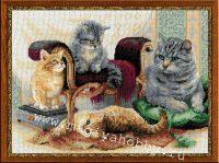 """вышивка крестом набор """"Кошачье семейство"""""""