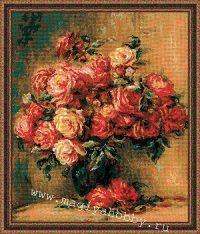 """вышивка крестом набор """"Букет роз"""""""