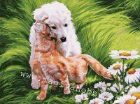 Раскраска по номерам  «Обожание»