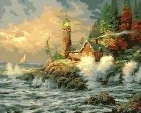 """рисование по номерам """"Старый маяк"""""""