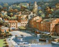 Раскраска по номерам «Курортный городок»