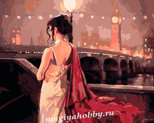 Раскраска по номерам  «Вечер в Лондоне»