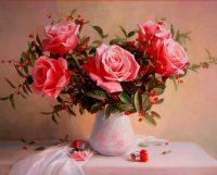Букет с красными ягодами, Алик Мамазиев