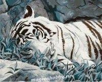 """Раскраска по номерам """"Белый тигр"""""""