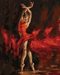 """рисование по номерам """"Огненный танец"""""""