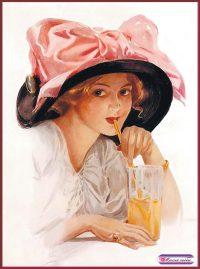 Дама в шляпе с бантом