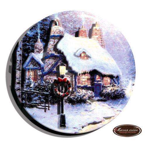 Зима миниатюра с венком