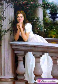 Девушка у балюстрады