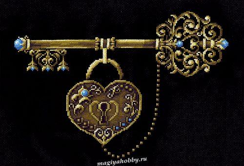 """вышивка крестом набор  """"Ключ счастья"""""""