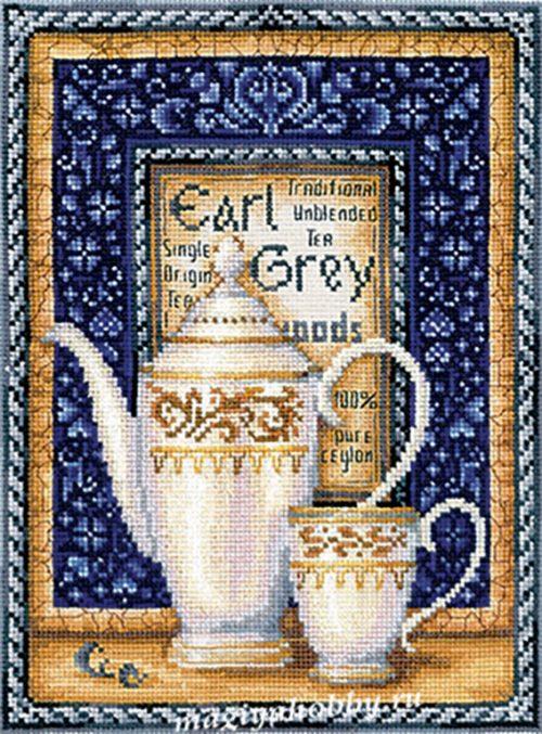 """вышивка крестом набор  """"Коллекция чая. Эрл Грэй"""""""