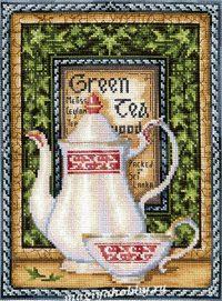 """вышивка крестом набор  """"Коллекция чая. Грин Мелисса"""""""