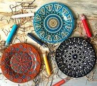 Наборы для точечной росписи тарелок
